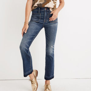 MADEWELL Patch Pocket Cali Demi-Boot Crop Jeans